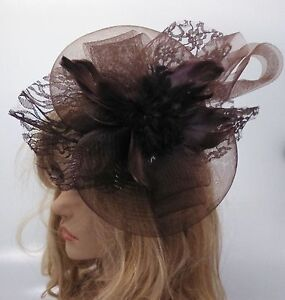 Image is loading Ladies-Girls-BIG-Large-Fascinator-Hair-Wedding-Party b6f4a1ad8d3