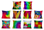 Retro-COLOURFUL-Cushion-Covers-Abstract-Bright-Bold-Design-Pillow-45cm-Gifts thumbnail 1