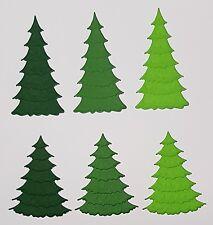 Stanzteile Tannenbäume, Weihnachten, Scrapbooking, Kartenaufleger