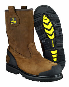 6f63ae6ab77 Details about Amblers FS223C Waterproof Rigger Safety Mens Brown Steel Toe  Cap Boots UK6-13