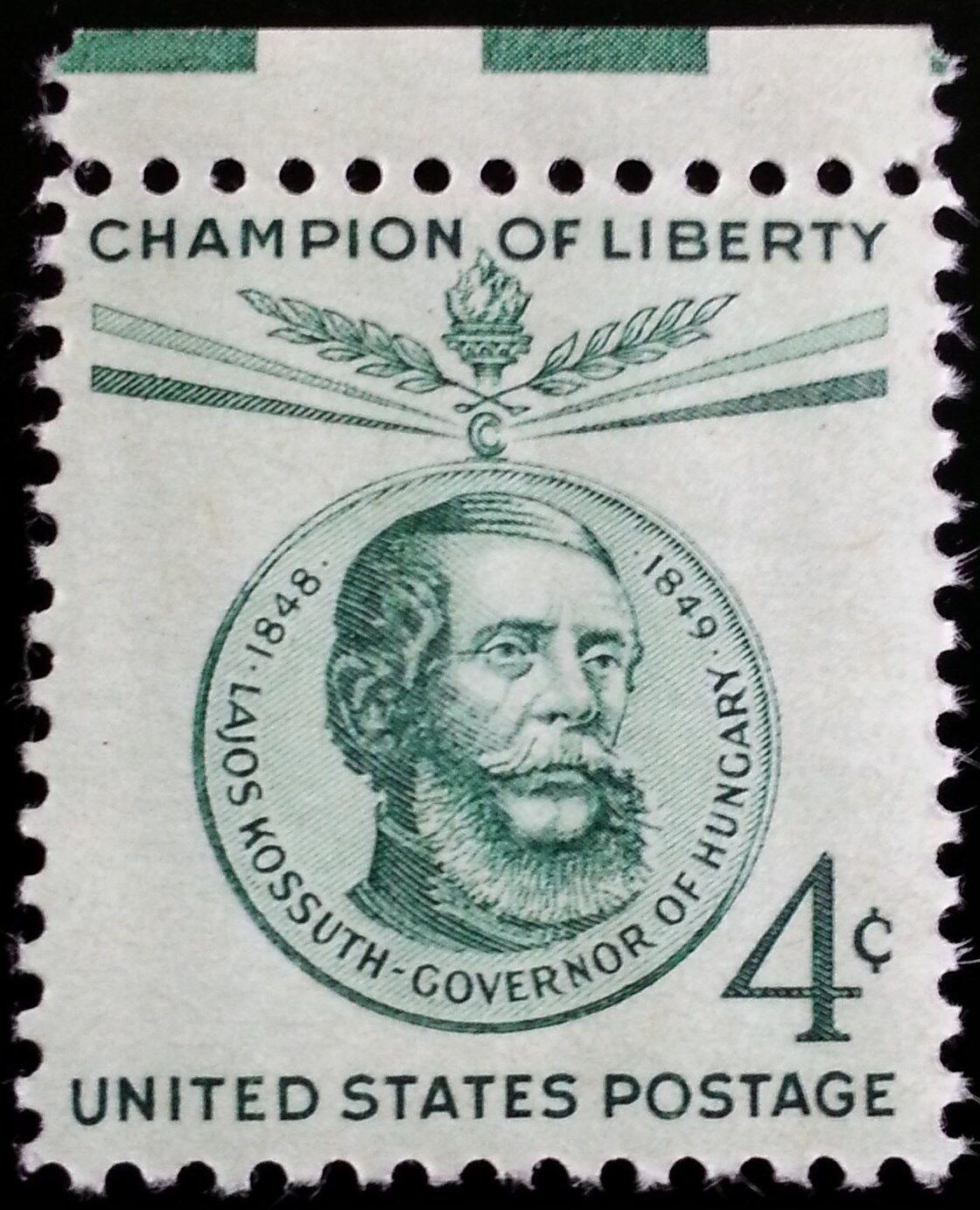 1958 4c Lajos Kossuth, Governor of Hungary Scott 1117 M