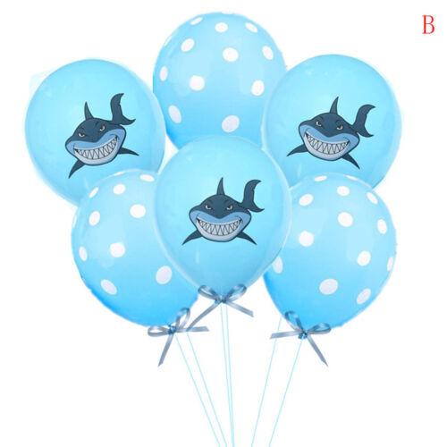 10pcs Shark Balloon Latex Confetti Balloons Birthday Party Baby Shower Decor Pip
