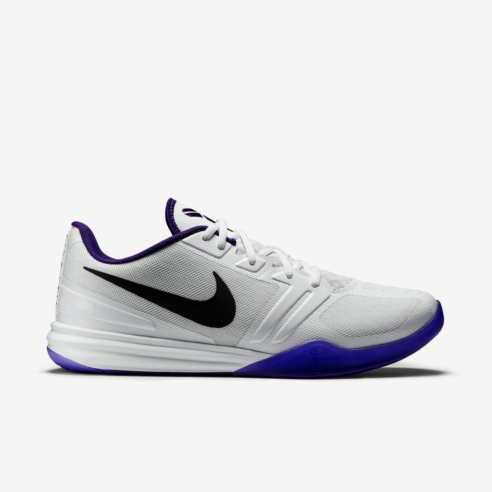 NIKE KB WHITE/PURPLE/BLK(704942-101)Lakers MENTALITY KOBE Sz 12 WHITE/PURPLE/BLK(704942-101)Lakers KB II 6 7 8 9 XI AD 5b5789
