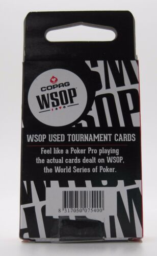 One Red Authentic Deck Dealt at 2016 WSOP Used Copag Poker Plastic Playing Cards