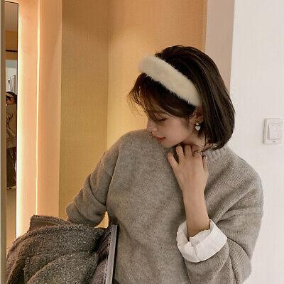 Ladies Faux Lamb Wool Headband Hairband  Winter Alice Hair Band Hoop Accessories