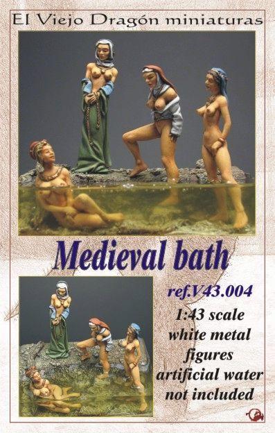 4 Figuren Médiévale Bain 1 43 Figurine Little Dragonettes Neuf Pin Up Métal