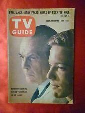 Ohio June 16 1962 TV GUIDE DR. KILDARE Raymond Massey Richard Chamberlain P Anka
