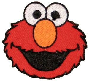 Elmo-Sesame-Street-Appliques-Embroidered-Iron-on-or-sew-on-Patch-Cartoon-RED