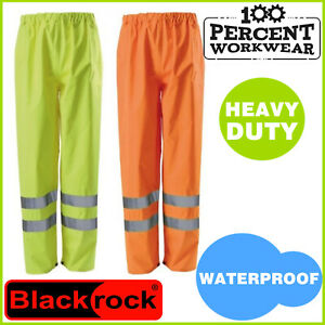 Pro-Heavy-Duty-Waterproof-Quality-High-Visibility-Over-Trousers-Pants-Hi-Viz-Vis