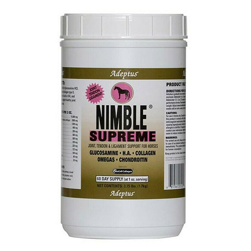 Adeptus Nutrition Nimble Supreme Equine Joint Tendon  Ligament Supplement 3.75lbs  low 40% price