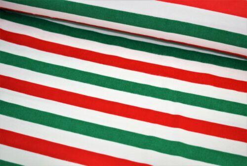 """Large 44/"""" Italien Bandes Motif Imprimé Brossé Doux 100/% flanelle de coton//Winceyette"""