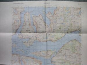Map Norway Kart Norge 1 50000 Four Sheets 1118 I Ii Iii Iv Maloy