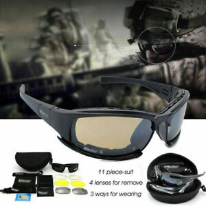 Daisy-X7-UVA-UVB-Tactical-Military-Style-Glasses-Goggles-Motorcycle-Sunglass-Kit