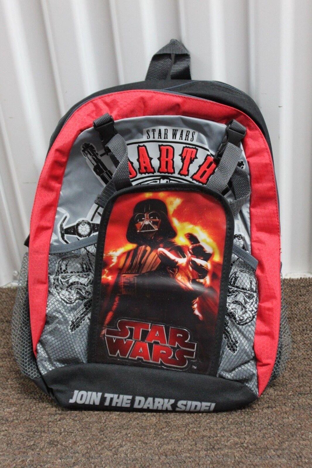 "NWT Star Wars 16/"" Backpack ~ Black /& Red ~ Darth Vader ~ The DARK SIDE ~"
