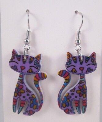 Floral Feline Earrings