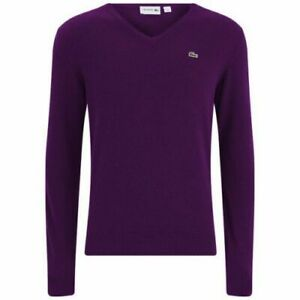 Pullover-Col-V-LACOSTE-DEVANLAY-Pure-Laine-Vierge-Woolmark-Lana-Bordeau-T-XL-6