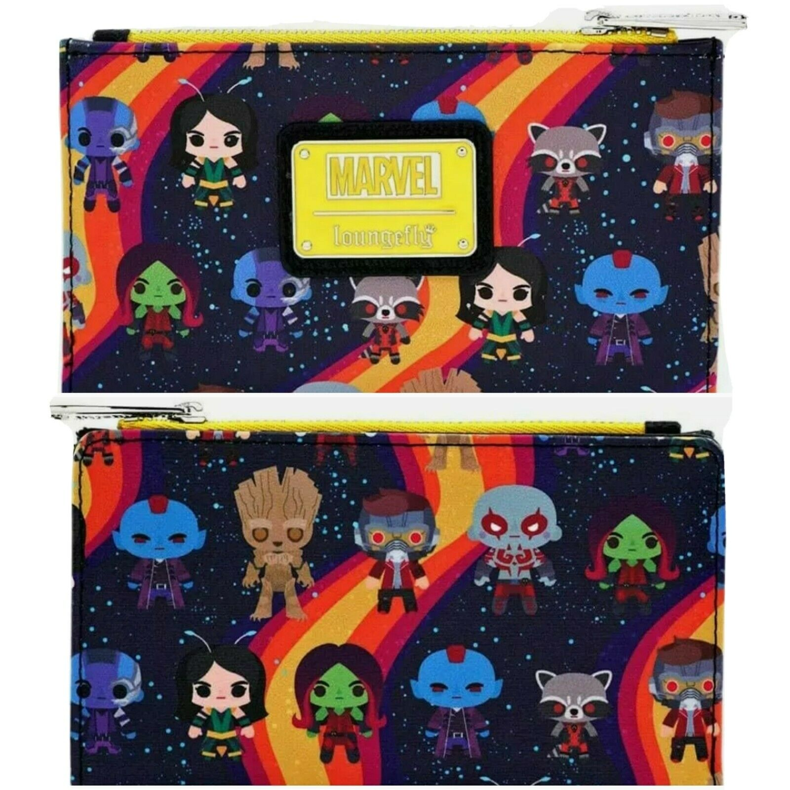Loungefly x Marvel Guardians of the Galaxy Chibi AOP Purse Wallet