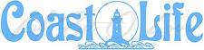 Coast Life Vinyl Decal Beach Ocean Sticker Lighthouse Surf Shore for Car Auto
