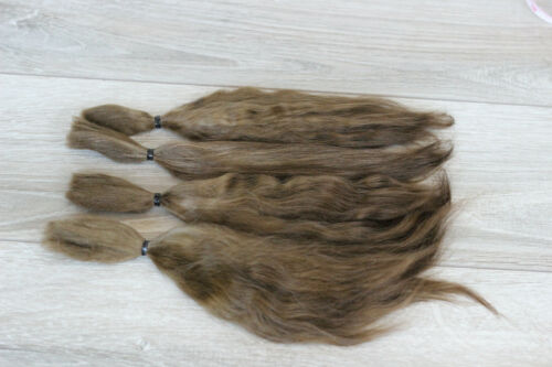 "Mohair Doll Hair color hazelnut 8-11/""  0.35 oz locks angora DIY baby reborn"