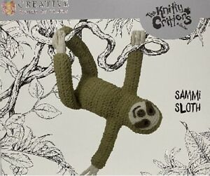 Sammi-Sloth-Knitty-Critters-Complete-Crochet-Kit-300g-Soft-Bernat-Blanket-Yarn