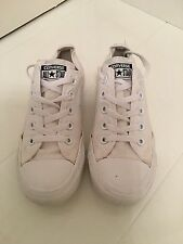 CONVERSE ALL STAR OX TRAINERS – ALL WHITE CANVAS - UK 4