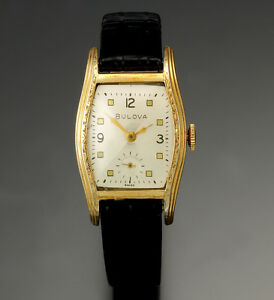 bulova watch 15 jewel manual wind yellow roled gold plate tonneau rh ebay com bulova watch standard manual bulova watch 96c107 manual