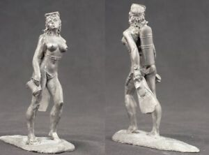 tin-toy-soldiers-unpainted-Girl-80mm-diver-Underwater