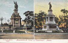 B79099 monumentos de colon y cuauhtemoc  mexico scan front/back image