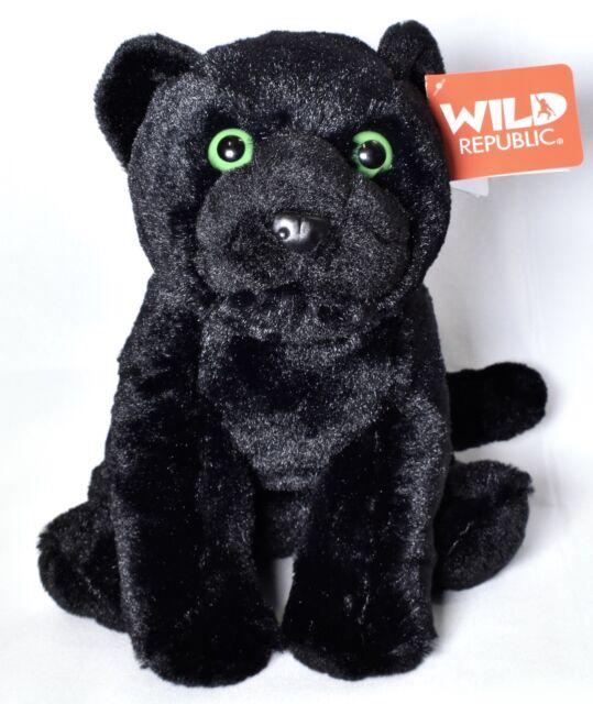 12 Inch Ck Black Jaguar Plush Stuffed Animal By Wild Republic Ebay