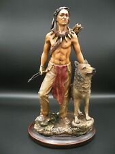 Brave Rustic Native American Bust Tribal Chief Statue Figurine NEW