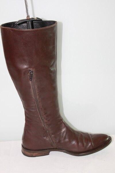 VINTAGE  botas  COX Tout Cuir marrón T 38.5 BE
