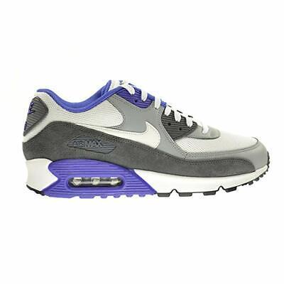 Nike Air Max 90 Essential White Silver Purple Grey Running 537384 122   eBay