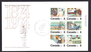 Canada  # 634 - 639 URpb   Letter Carrier Service   New 1974 Unaddressed Cover