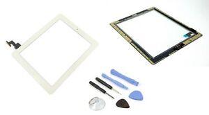 Apple-Ipad-2-ecran-tactile-numeriseur-verre-affichage-MOD-A1397-Blanc-outil