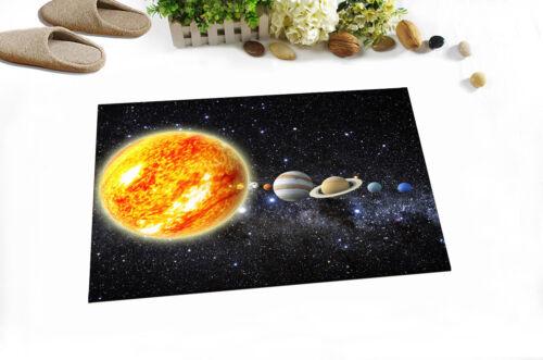 "Solar System Journey Bath Mat Bathroom Rug Non-Slip Home Decor Carpet 24x16/"""