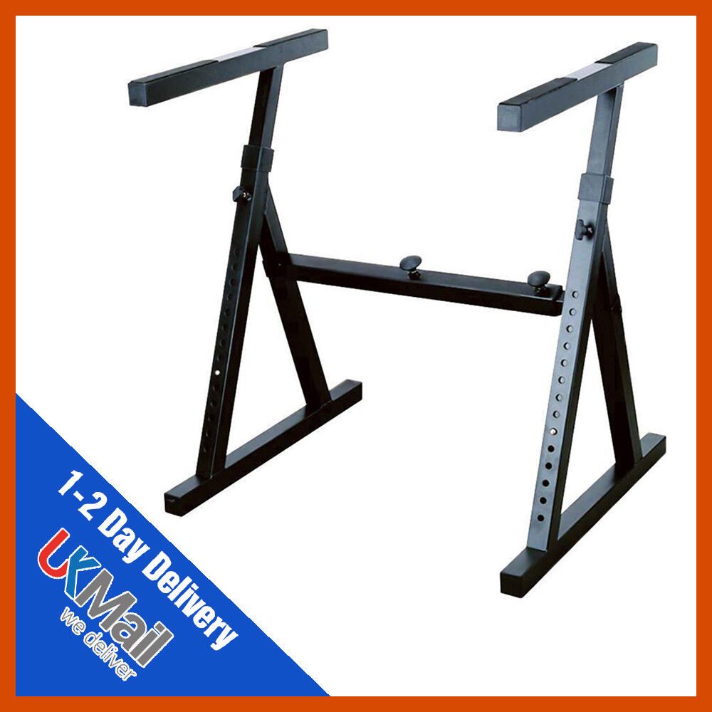 Heavy Duty Mixing Desk / Keyboard Equipment Stand - 14 height settings
