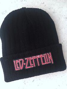 Retro-Led-Zeppelin-Name-Rock-Pop-Knitted-Stretch-Unisex-Teen-Beanie-Beanies