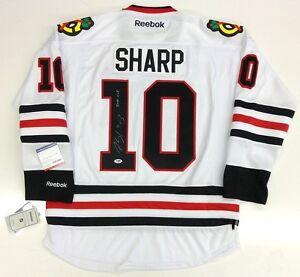 PATRICK-SHARP-SIGNED-amp-INSCRIBED-CHICAGO-BLACKHAWKS-2010-CUP-JERSEY-PSA-DNA