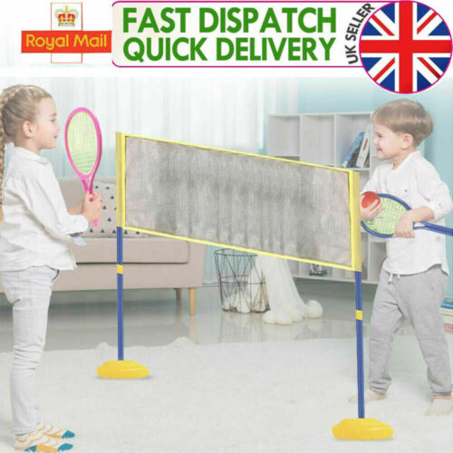 Kids 2 in1 Badminton and Volleyball Set Ball Racket Net Games Children Toys NEW