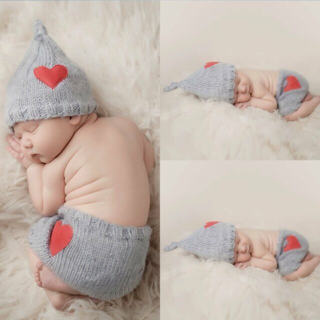 e1e3529fa32 Newborn Baby Girls Boys Cute Crochet Knit Costume Photo Photography Prop  Outfits