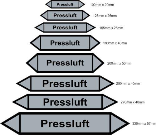 Medienpfeile Pressluft Rohr Kennzeichnung Luftrichtungspfeile
