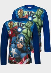 Official-Marvel-Avengers-Boys-Kids-Childrens-Long-Sleeve-Top-4-5-6-7-8-10