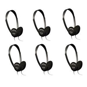HP-100-Headphones-Black-6-Pack