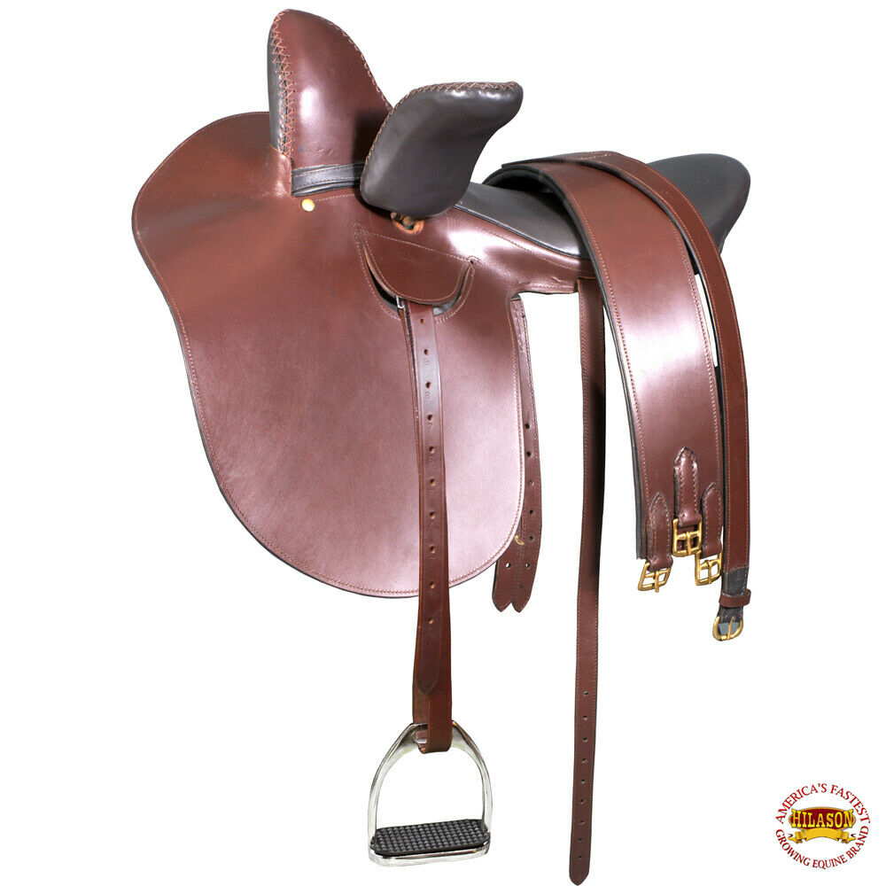 16 in englischer Sprache Side Saddle Horse Riding Tack braun Leather Hilsson U-G301