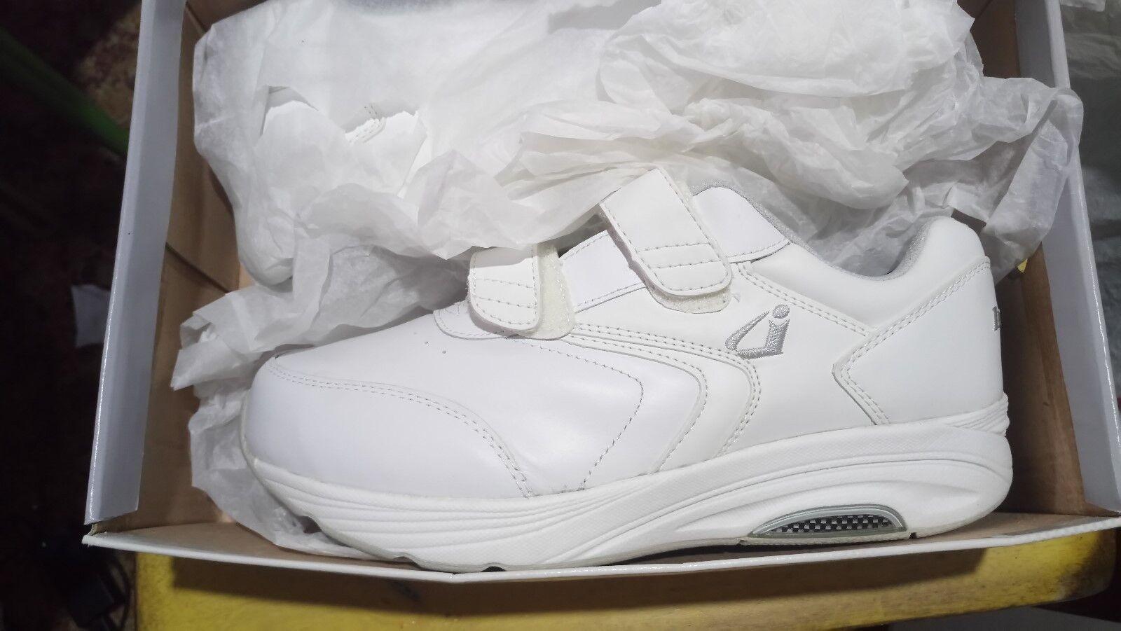 Instride nouveauport Strap cuir blanc femmes chaussures Orthopedic Diabetic nouveau