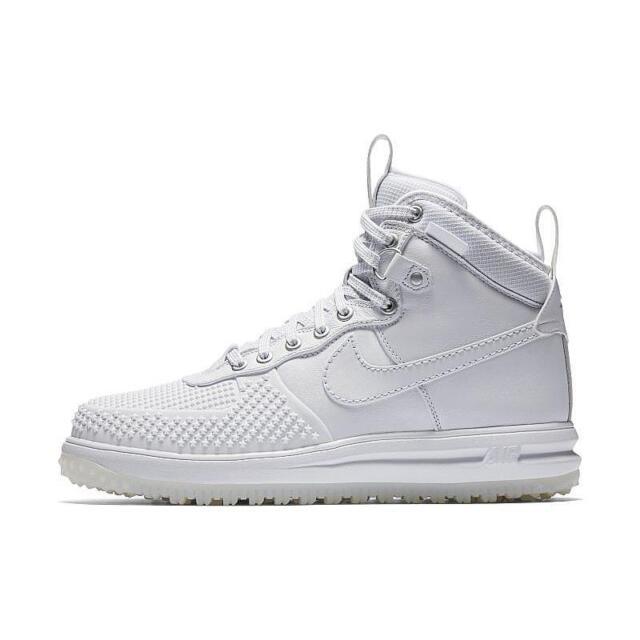 nouveau concept 9e7a5 a7e81 Mens Nike Lunar Force 1 Duckboot Triple White 805899-101 US 13