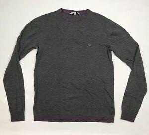 FAT-FACE-Mens-Sweatshirt-Grey-Cotton-Crew-Neck-Long-Sleeve-Jumper