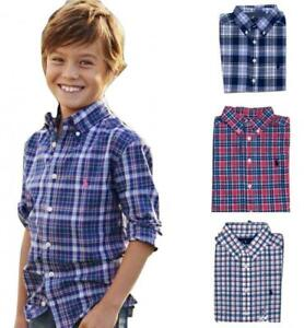 Polo-Ralph-Lauren-Little-Big-Boys-Plaid-Cotton-Poplin-Shirt-2T-XL