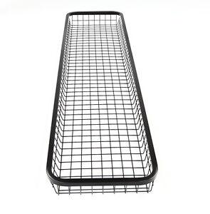 Tib90205 Wire Mesh Basket Black Steel Long And Narrow