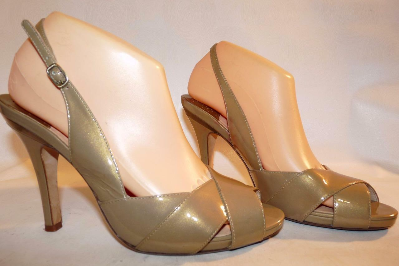 Cole Haan Nike Air Patent Patent Patent Leather Peep Toe Slingback Heels 9AA d383d4